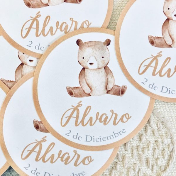 Etiqueta pegatina personalizada Alegna Secret oso